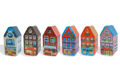 Small houses (per 6 in assortment) | SHOU/ASS | 120x58x58mm | min. 90 pc.